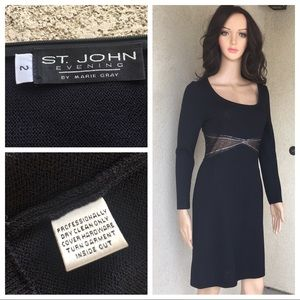 St. John evening by Marie gray black dress size 2